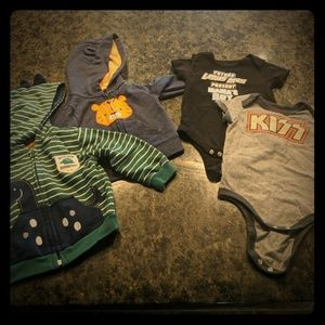 Other - 6-9month lot, 2 onesies & 2 sweatshirts